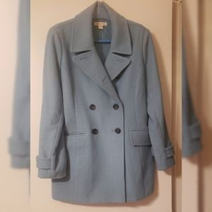 Gorgeous Sky Blue Wool Peacoat